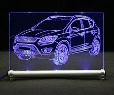 Ford Kuga als AutoGravur auf LED-LeuchtSchild 4x4 SUV