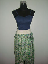 white blue green floral skirt navy blue corset top two piece korean dress