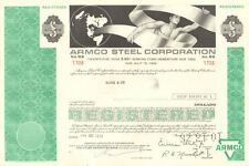 Armco Steel Corporation > greater than $5,000 Ohio bond certificate stock share