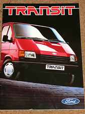 1986 FORD TRANSIT Brochure - SWB, LWB, Bus, Chassis, Windshield