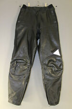 HEIN GERICKE STREETLINE BLACK LEATHER BIKER TROUSERS/ARMOUR: WAIST 28/I. LEG 29""