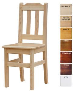2 SET Stuhl MASSIV KIEFER HOLZ -NEU restaurantstuhl verschiedene Farben - 2 SET