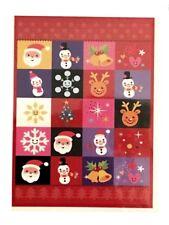 "Decorative Christmas House Flag 28x40"" Santa Reindeer Snowflakes Holiday NEW"