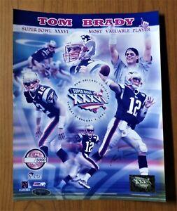 "2002 Tom Brady Signed 8""x10"" Tristar COA Auto Autographed 100% Authentic RARE"