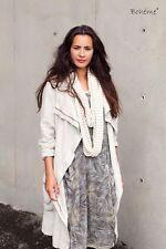 BOHEME DENMARK  LAGENLOOK LINEN BALLOON HEM DRESS JACKET SIZE 1 UK 10 12 D 36 38