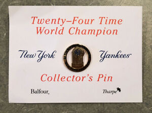 1998 MLB NY Yankees Twenty-Four Time World Champion Collector's Pin-Cool Pin