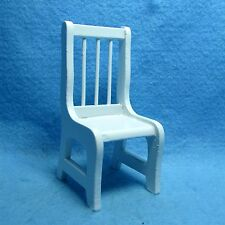 Dollhouse Miniature Kitchen / Dining Room Chair in White ~ T6481