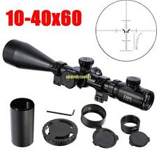 10-40x60 Tacticle Rifle Scope ESF IR Reticle Illuminated Telescope