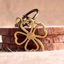 Four-Leaf Clover Lucky Grass Keychain Keyring Alloy Metal Pendant Creative Gift