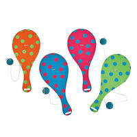 Spring Brights Paddle Ball Games - Toys - 12 Pieces