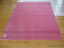 "Pink Hudson Bay Striped Blanket 100% Wool 3 1/2 Point App. 83""/ 63"" England (Aeb"