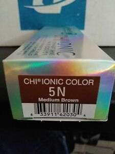 Chi Ionic Permanent Color Medium Brown 5N 3oz