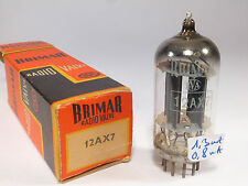 12AX7 ECC83 Brimar BVA old production D getter long black plates tested NOS&NIB