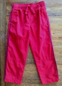 Gymboree Size 4 Athletic Pants Mesh Lined Red Gray Active Side Stripe Boys