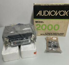 Rare Vintage Audiovox Model 2000 8 Track Tape Player AM/FM Stereo Radio NOS