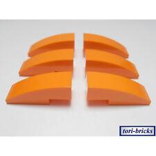 Lego Dachstein / Slope gewölbt 3x1 orange 6 Stück »NEU« # 50950