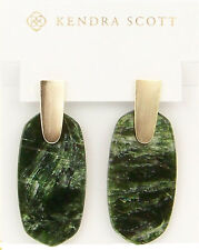Kendra Scott Aragon Dangle Earrings in Sage Mica and Gold Plated