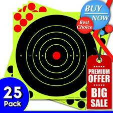 New listing Highwild 8� Paper Targets - Splatter Shots Burst Bright Fluorescent Yellow 25Pcs