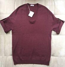 New Brunello Cucinelli plum colour cashmere jumper sweater L