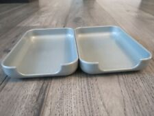 Set2 Silver Desk Paper Holder Trays Miscellaneous Trays