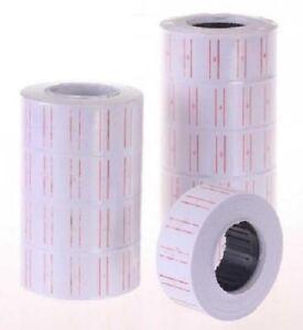 50 ROTOLI ETICHETTE ADESIVE PREZZI 21x12 mm PER PREZZATRICE ETICHETTATRICE -MNT-