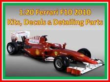 1/20 Ferrari F10 Studio 27 Templated Carbon Fibre Decal Set & HDes Detailing set