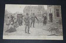 CPA 1914 GUERRE 14-18 PATRIOTIQUE ATROCITES ALLEMANDES ABBE DELEBECQUE FUSILLE