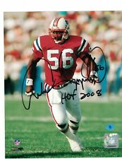 """Andre Tippett New England Patriots Signed 8"""" x 10"""" Photo W/Our COA"""