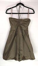 New BCBG MAXAXRIA Women Babydoll Bubble Dress Size Small Brown Plaid