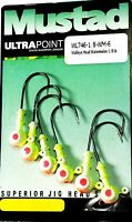 Mustad Ultra Point Walleye Head Watermelon 1/8 oz. Jigs - 6-Pack #WL746-1/8-WM-6