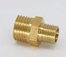 "Reducer 1/8"" NPT Male to 10-32 UNF Male Brass Pipe Adapter Straight L-6T"