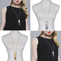 New Punk Tassel Sweater Chain Pendant Gold Silver Plated Boho Long Necklace Hot