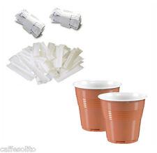 KIT caffè: 500 bicchierini da caffè + 500 palette plastica incartate