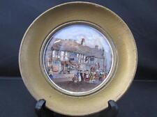 Antique Framed Prattware Pot Lid Shakespeares House Henley St Stratford on Avon