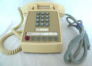 Vintage Push Button Multiline Phone Cream Color Bell System AT&T, untested