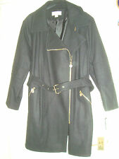 Michael Kors UK 26 EU 54 Black Coat Trench £ 290.00