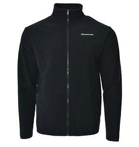 LAMBRETTA mens polar fleece sweatshirt jumper zip up top navy blue S M L XL XXL
