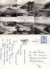 1969 MULTI VIEWS OF THE ATLANTIC COAST CORNWALL REAL PHOTOGRAPH POSTCARD