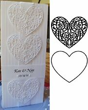 BUNDLE Scroll & Solid Heart cutting dies - Serendipity metal die sets wedding