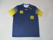 NEW Under Armour Cal Golden Bears Soccer Jersey Adult Large Blue Yellow Dri Fit
