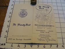 Vintage paper: BANCO GENERAL DE MONTERREY S.A. brochure