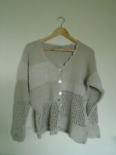 Claire Kennedy Connemara Collection hand knit beige cardigan size 3 approx 14-16