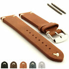 Genuine Leather Vintage Retro Style Watch Strap Band 18 20 22 24 Blacksmith MM