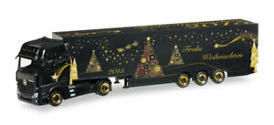 MERCEDES ACTROS Cabover Truck & Trailer Xmas 15 HERPA 1/87 Scale plastic 305051