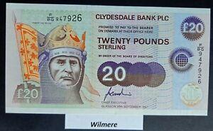 Clydesdale Bank £20 (P227) 1997 F/BG prefix (Commonwealth HOG)  *aUNC*