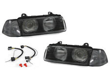 BMW E36 2DR DEPO EURO GLASS LENS w/ RIDGES HEADLIGHTS+SMOKED CORNER SIGNALS LAMP