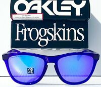 NEW* Oakley Frogskins Crystal Purple POLARIZED Violet Purple Sunglass 9013-H8