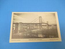 Ambassador Bridge Detroit,Michigan Vintage Colorful Postcard Unused PC16