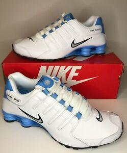Men's Nike Shox NZ EU White/FLT Silver-University Blue 501524-108 Brand New