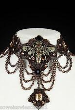 Restyle  Steampunk Bee Schlüssel Key Choker Gothic Halskette Collier Necklace br